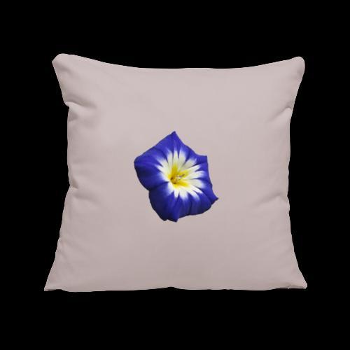 Fleure bleue - Housse de coussin décorative 45x 45cm