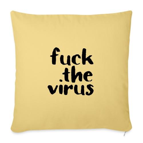 F*** the virus - Sofakissenbezug 44 x 44 cm