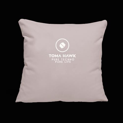 Toma Hawk - Pure Techno - Pure Life White - Sofakissenbezug 44 x 44 cm