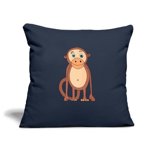 Bobo le singe - Housse de coussin décorative 45x 45cm