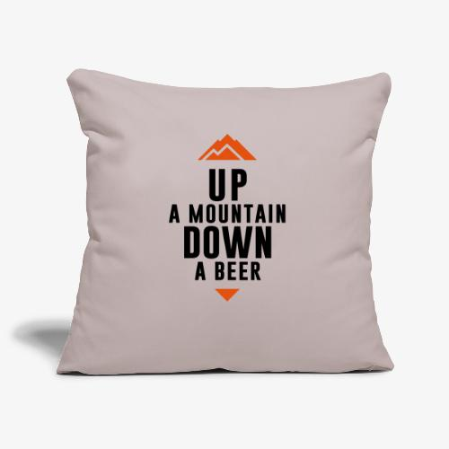 UP Mountain Down Beer - Housse de coussin décorative 45 x 45 cm