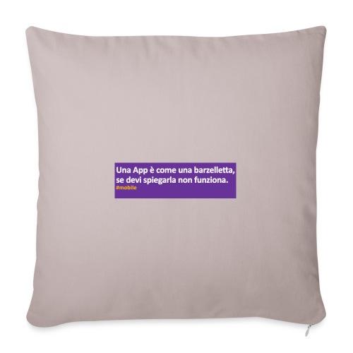 barzelletta - Copricuscino per divano, 45 x 45 cm