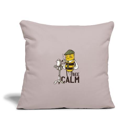 Bee Calm Biene trinkt Tee und entspannt - Sofakissenbezug 44 x 44 cm