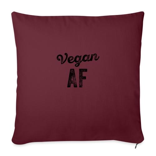 Grappige Vegan AF Vegetarisch - Sierkussenhoes, 45 x 45 cm