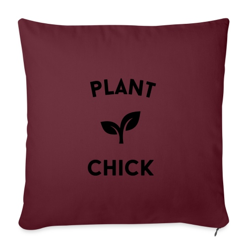 Plant Chick Vegetarische veganistische tuin - Sierkussenhoes, 45 x 45 cm