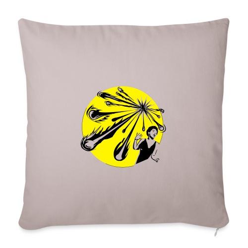 Yellow Meteor Shower Scream - Sofa pillowcase 17,3'' x 17,3'' (45 x 45 cm)