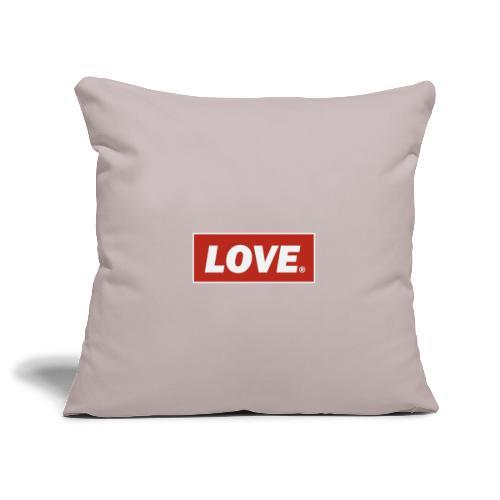 Love - Sofa pillowcase 17,3'' x 17,3'' (45 x 45 cm)