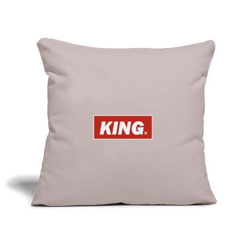 King, Queen, - Sofa pillowcase 17,3'' x 17,3'' (45 x 45 cm)