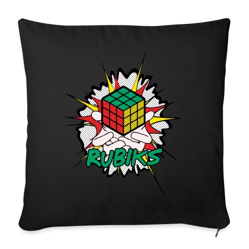Rubik's Cube Explosion - Sofa pillowcase 17,3'' x 17,3'' (45 x 45 cm)