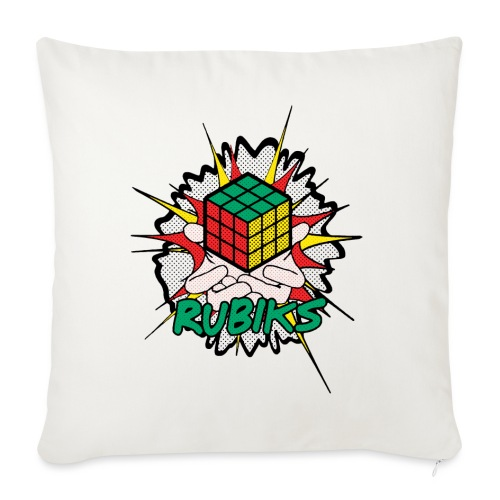 Rubik's Cube Explosion - Sofa pillowcase 17,3'' x 17,3'' (45 x 45 cm)