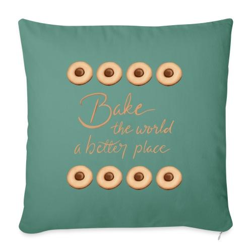 Bake the world a better place - Soffkuddsöverdrag, 45 x 45 cm