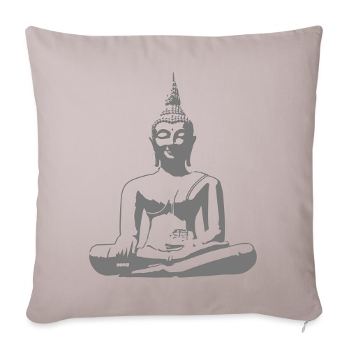 Boeddha beeld - Sierkussenhoes, 45 x 45 cm