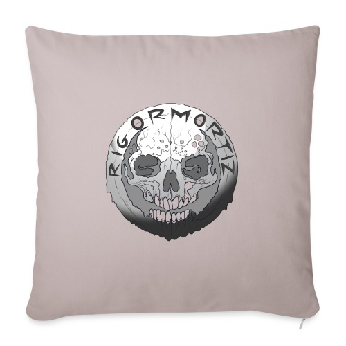 Rigormortiz Black and White Design - Sofa pillowcase 17,3'' x 17,3'' (45 x 45 cm)