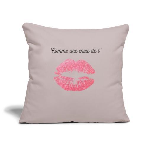 Comme une envie de t'embrasser - Housse de coussin décorative 45x 45cm