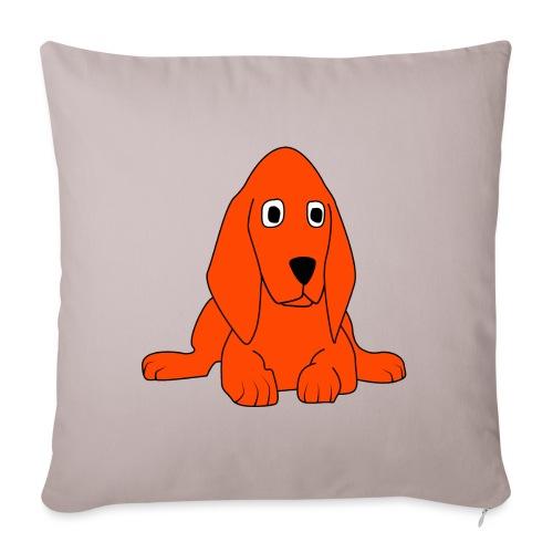 orange dog - Copricuscino per divano, 45 x 45 cm