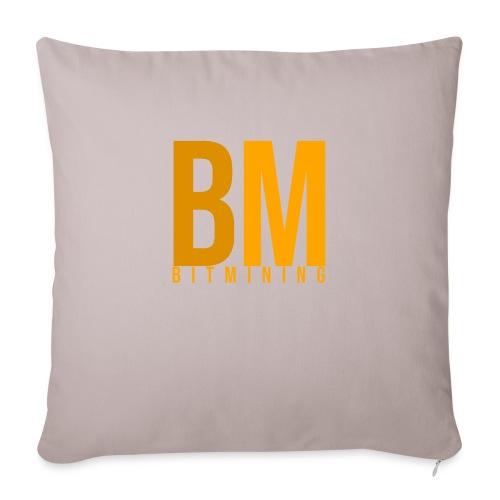 Logo Bitmining - Housse de coussin décorative 45x 45cm