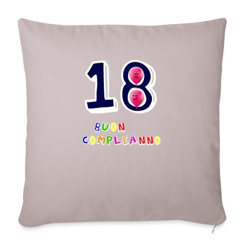 18 BUON compleanno - Copricuscino per divano, 45 x 45 cm