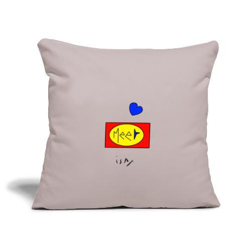 Meet isax - Housse de coussin décorative 45x 45cm