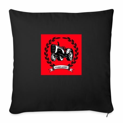 KonradSB czerwony - Poszewka na poduszkę 45 x 45 cm