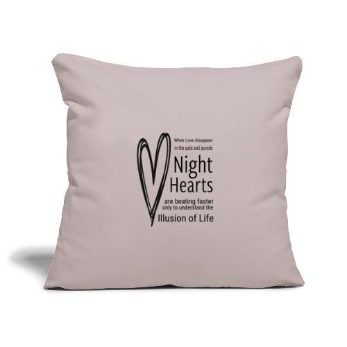 Night Hearts - Pudebetræk 45 x 45 cm
