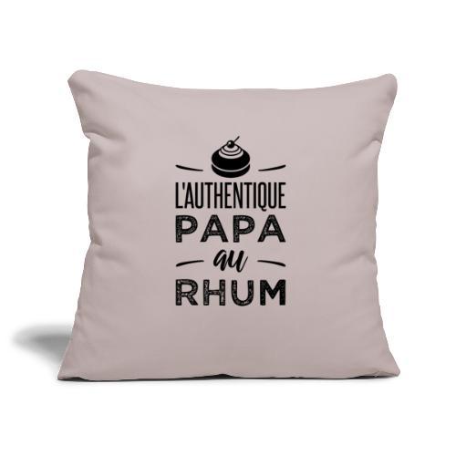 L'authentique papa au rhum - Housse de coussin décorative 45x 45cm
