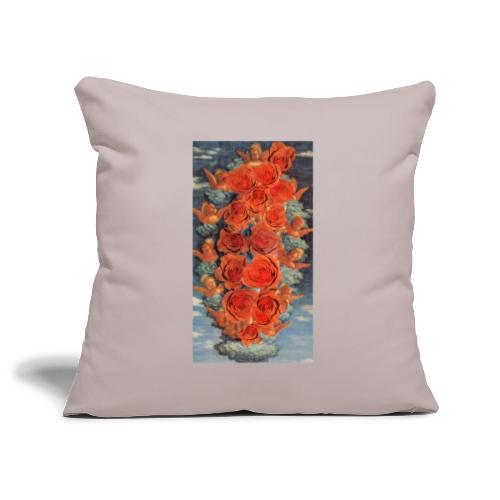 Angeli e rose - Copricuscino per divano, 45 x 45 cm