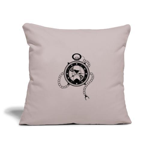 Le Temps - Housse de coussin décorative 45x 45cm