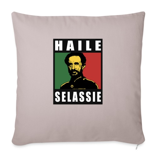 Haile Selassie - Rastafari - Reggae - Rasta - Sofakissenbezug 44 x 44 cm
