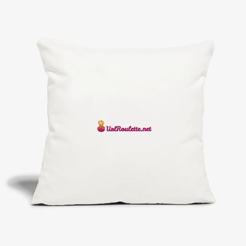 UrlRoulette Logo - Sofa pillowcase 17,3'' x 17,3'' (45 x 45 cm)