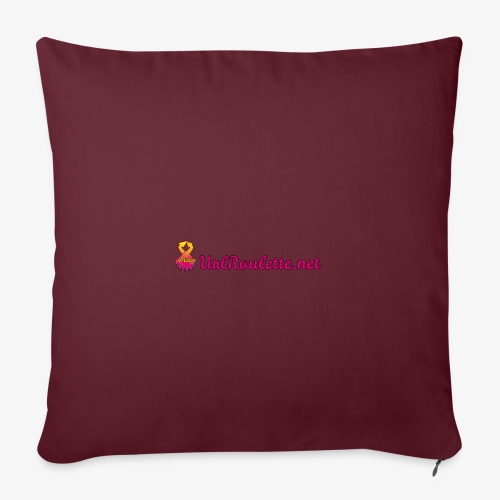 UrlRoulette Logo - Sofa pillowcase 17,3'' x 17,3'' (45 x 45 cm)