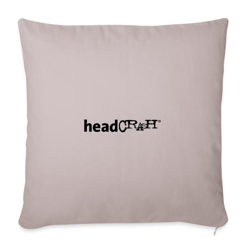 headCRASH Logo black - Sofakissenbezug 44 x 44 cm