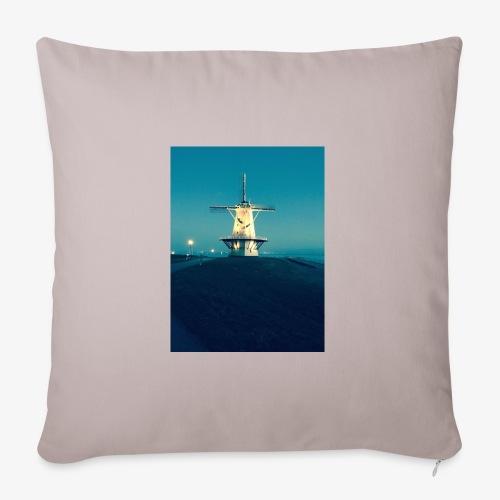 Windmühle an der Küste - Sofakissenbezug 44 x 44 cm