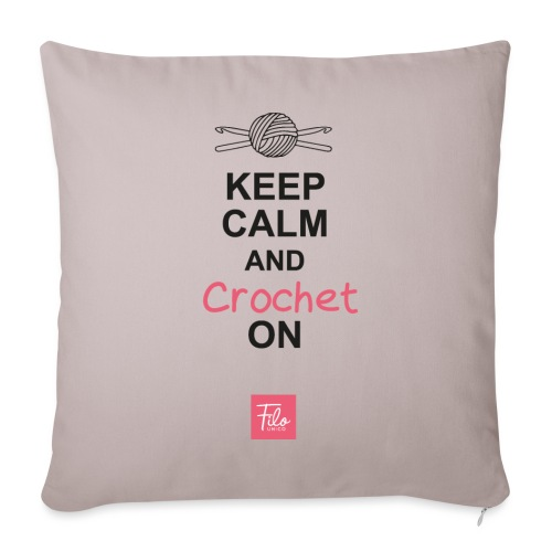 Keep calm and Crochet on - Copricuscino per divano, 45 x 45 cm
