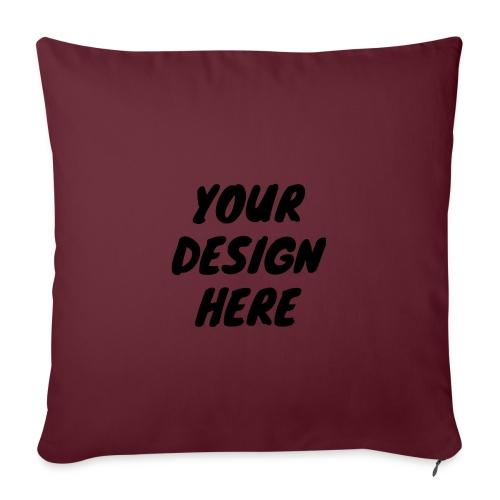 print file front 9 - Sofa pillowcase 17,3'' x 17,3'' (45 x 45 cm)