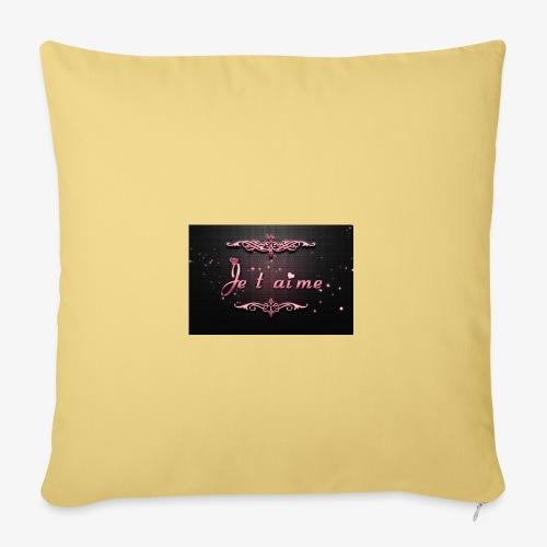 Je t aime le plus doux des mots - Housse de coussin décorative 45x 45cm