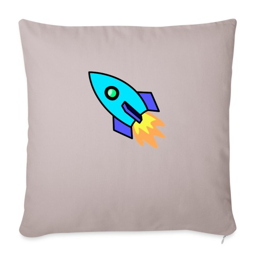 Blue rocket - Sofa pillowcase 17,3'' x 17,3'' (45 x 45 cm)