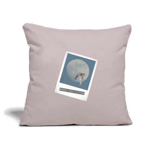 Owl Magical Polaroid Flying Full Moon - Sofa pillowcase 17,3'' x 17,3'' (45 x 45 cm)