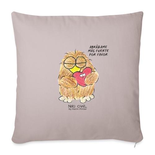 Niki Owl Abrázame Más Fuerte Por Favor - Sofa pillowcase 17,3'' x 17,3'' (45 x 45 cm)
