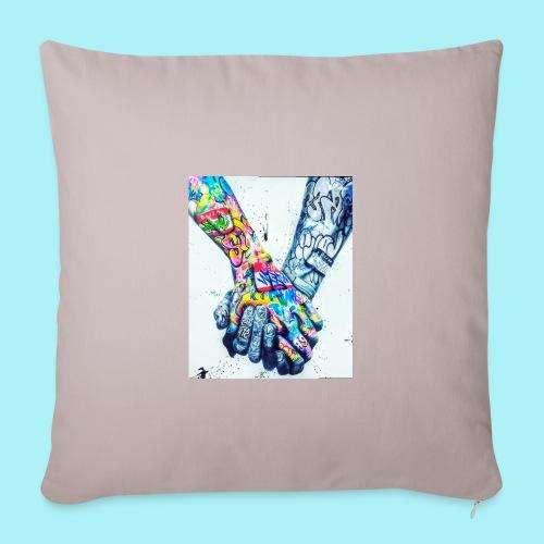 Main dans la main tatoués - Housse de coussin décorative 45x 45cm