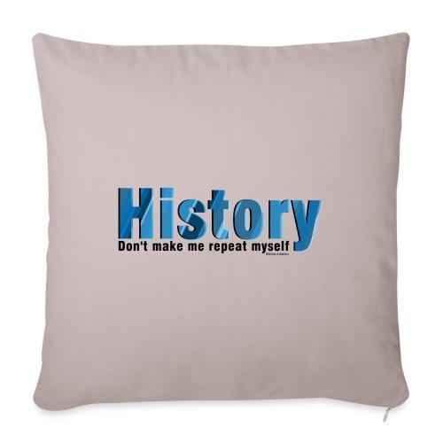 Blue Repeat History - Sofa pillowcase 17,3'' x 17,3'' (45 x 45 cm)