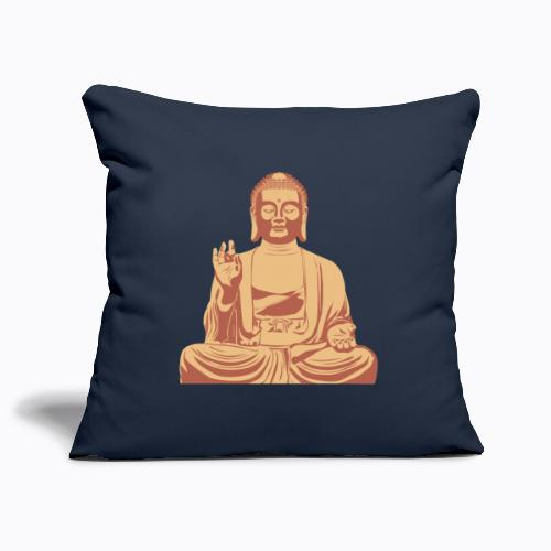buddha om - Sofa pillowcase 17,3'' x 17,3'' (45 x 45 cm)