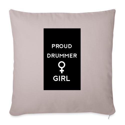 Proud drummer girl - black - Pudebetræk 45 x 45 cm