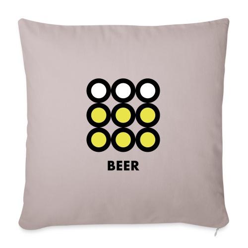 Beer. Vedi anche la versione Wine. - Copricuscino per divano, 45 x 45 cm