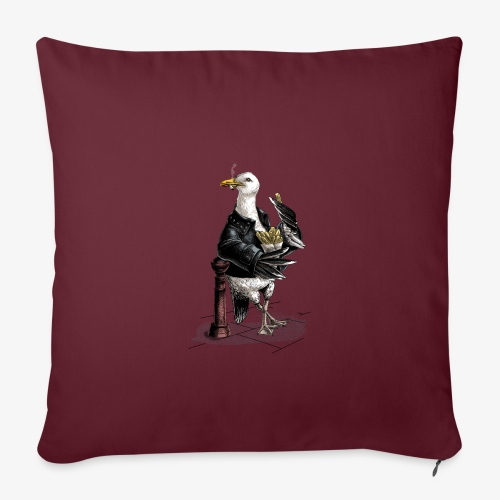 Black Backed Gull - Sofa pillowcase 17,3'' x 17,3'' (45 x 45 cm)
