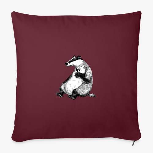 Badger Wine - Sofa pillowcase 17,3'' x 17,3'' (45 x 45 cm)