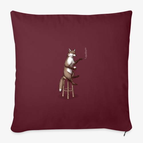 The Fox At the Bar - Sofa pillowcase 17,3'' x 17,3'' (45 x 45 cm)