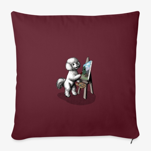 Bichon Frise Painter - Sofa pillowcase 17,3'' x 17,3'' (45 x 45 cm)