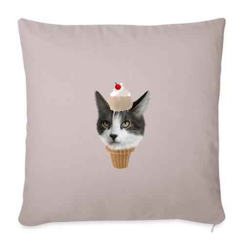 Ice Cream Cat - Sofakissenbezug 44 x 44 cm