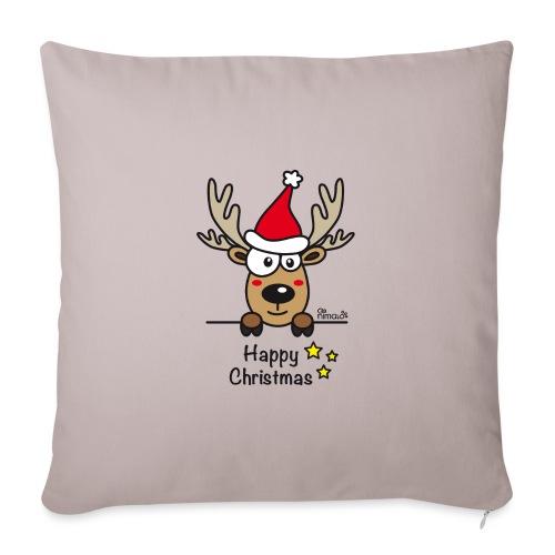 Renne Joyeux Noël - Happy Christmas, Humour, Drôle - Housse de coussin décorative 45x 45cm