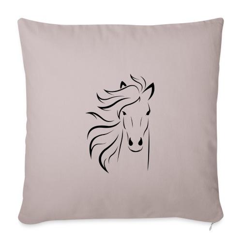 cheval - Housse de coussin décorative 45x 45cm
